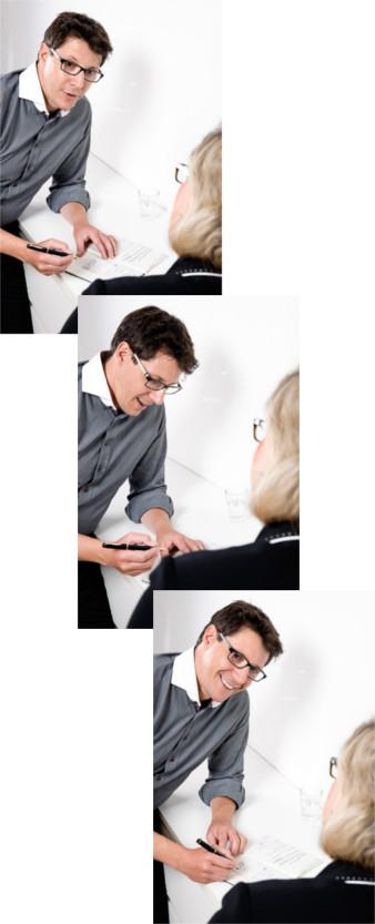 Kundengespräch zur Anwendungsberatung